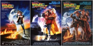 Back To The Future 1,2,3 Posters