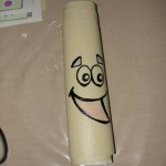 3. Roll it up to see where to draw Map's face