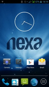 Home Screen of Nexa Vega N4