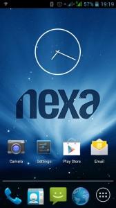 Home Screen of Nexa Vega N4