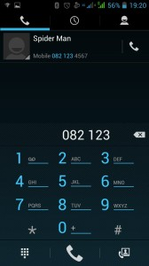 Making Call: Type in the Number you want to dial